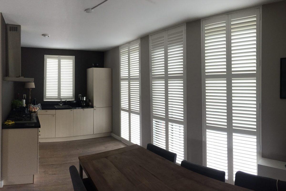 shutters huis keuken