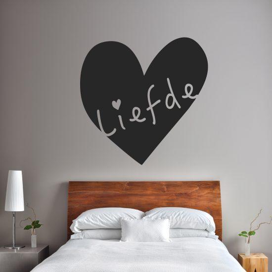 muursticker moderne slaapkamer