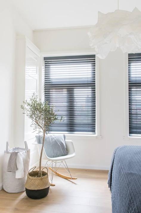 slaapkamer met plant