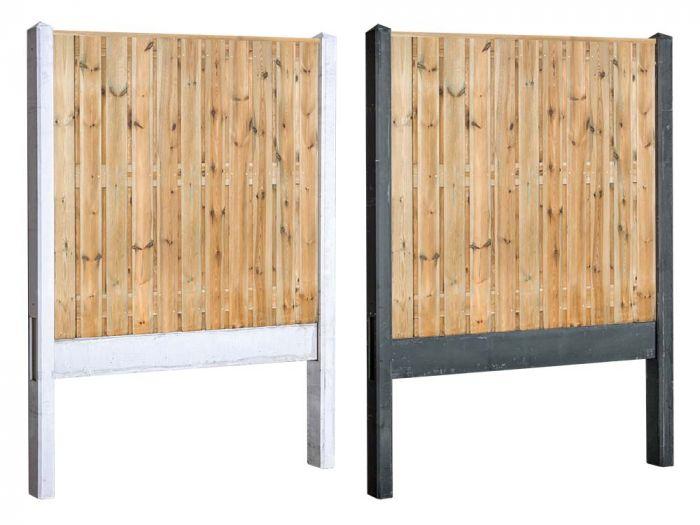 houten beton schutting
