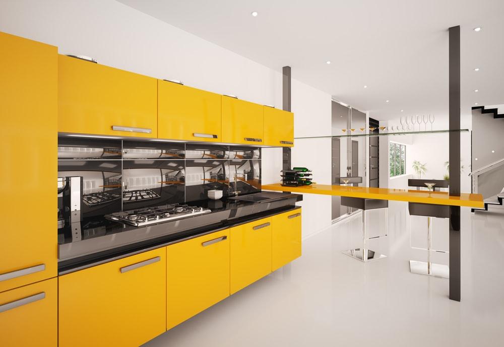 Gedurfde kleuren keuken