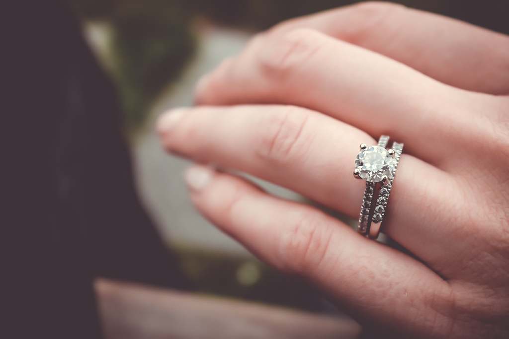 De verlovingsring aan de linkerhand? Of toch rechts