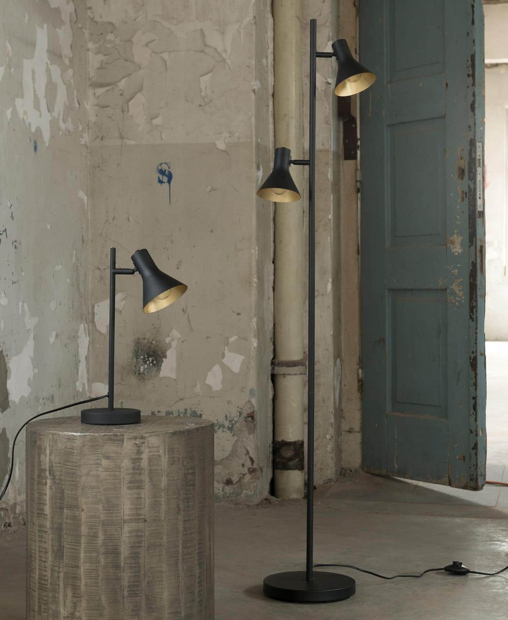 mat zwart lampen
